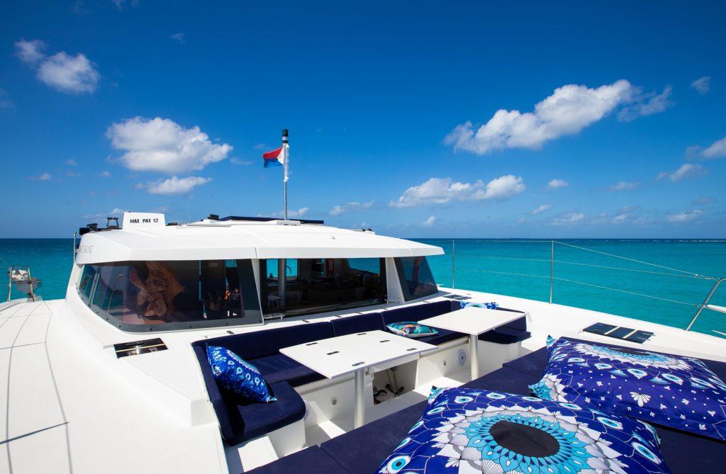 Spacious Catamaran bow deck