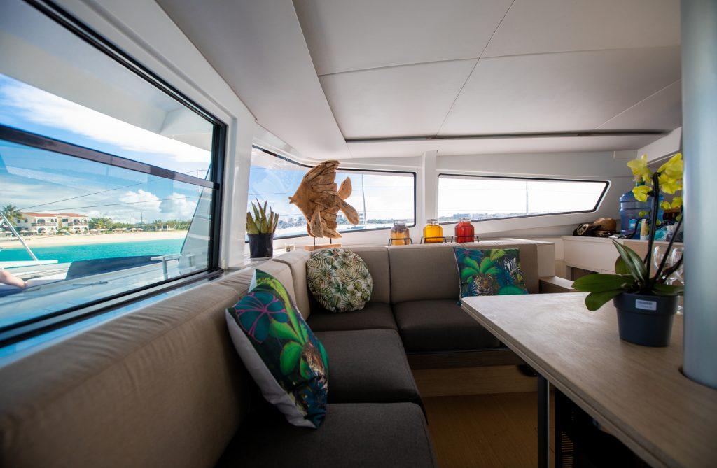 Comfortable and spacious inside of the Catamaran Bali 4.5