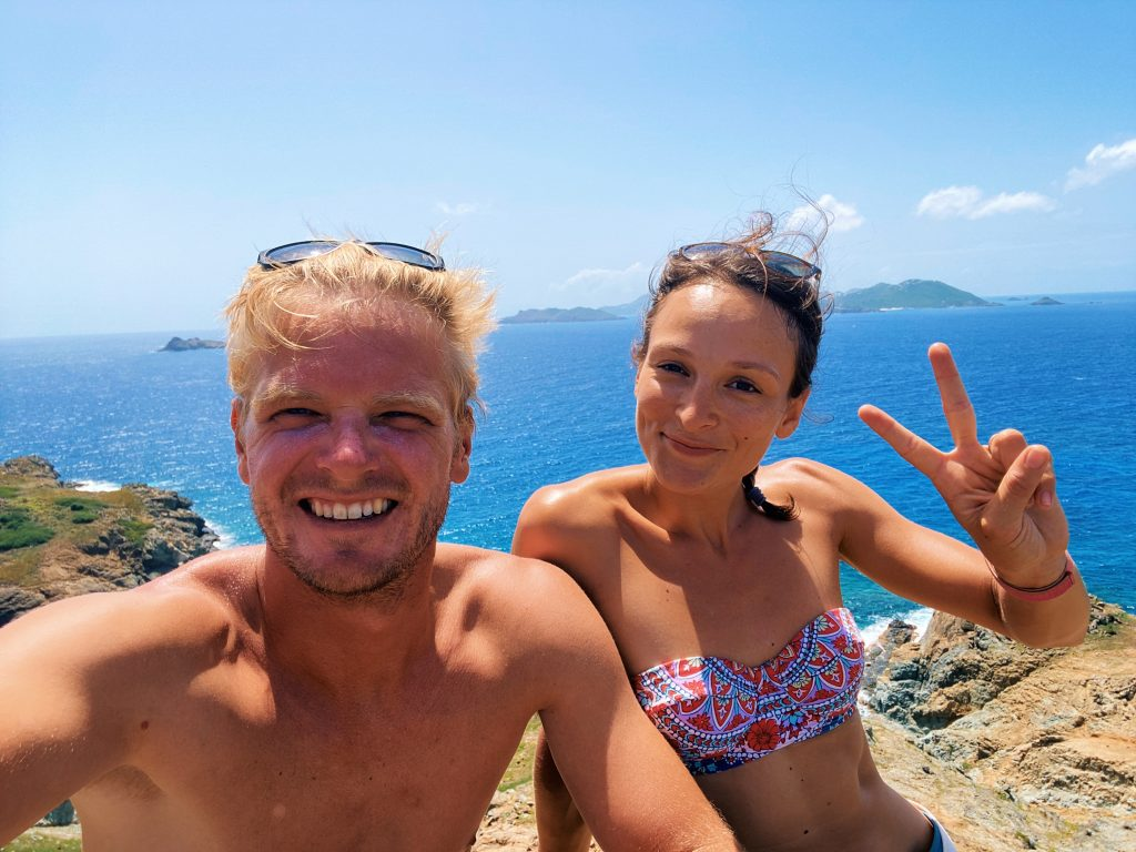 Captain Max and Hostess Alisson on a Discovery Boat Trip to Île Fourchue