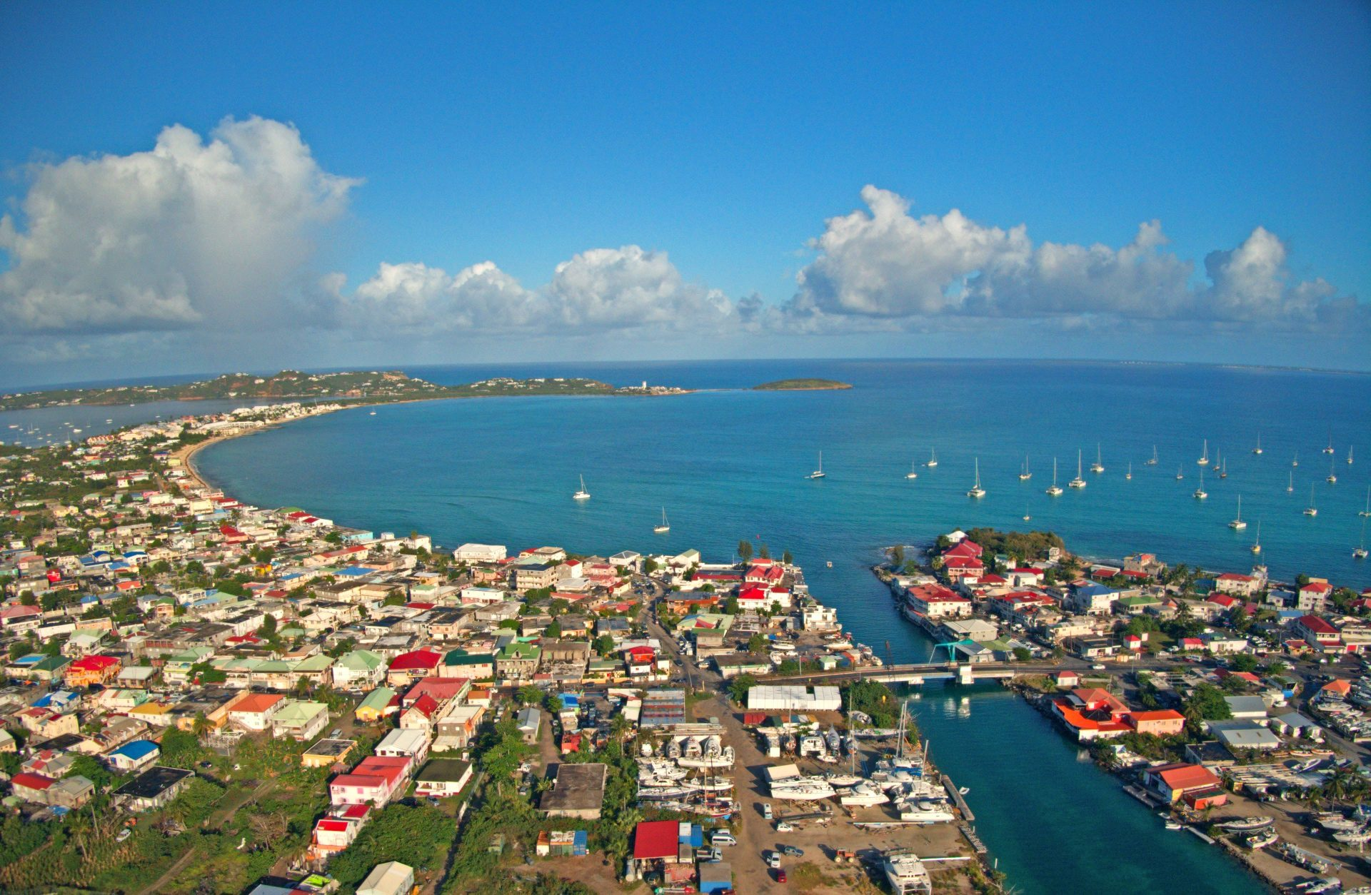 St Martin aerial view