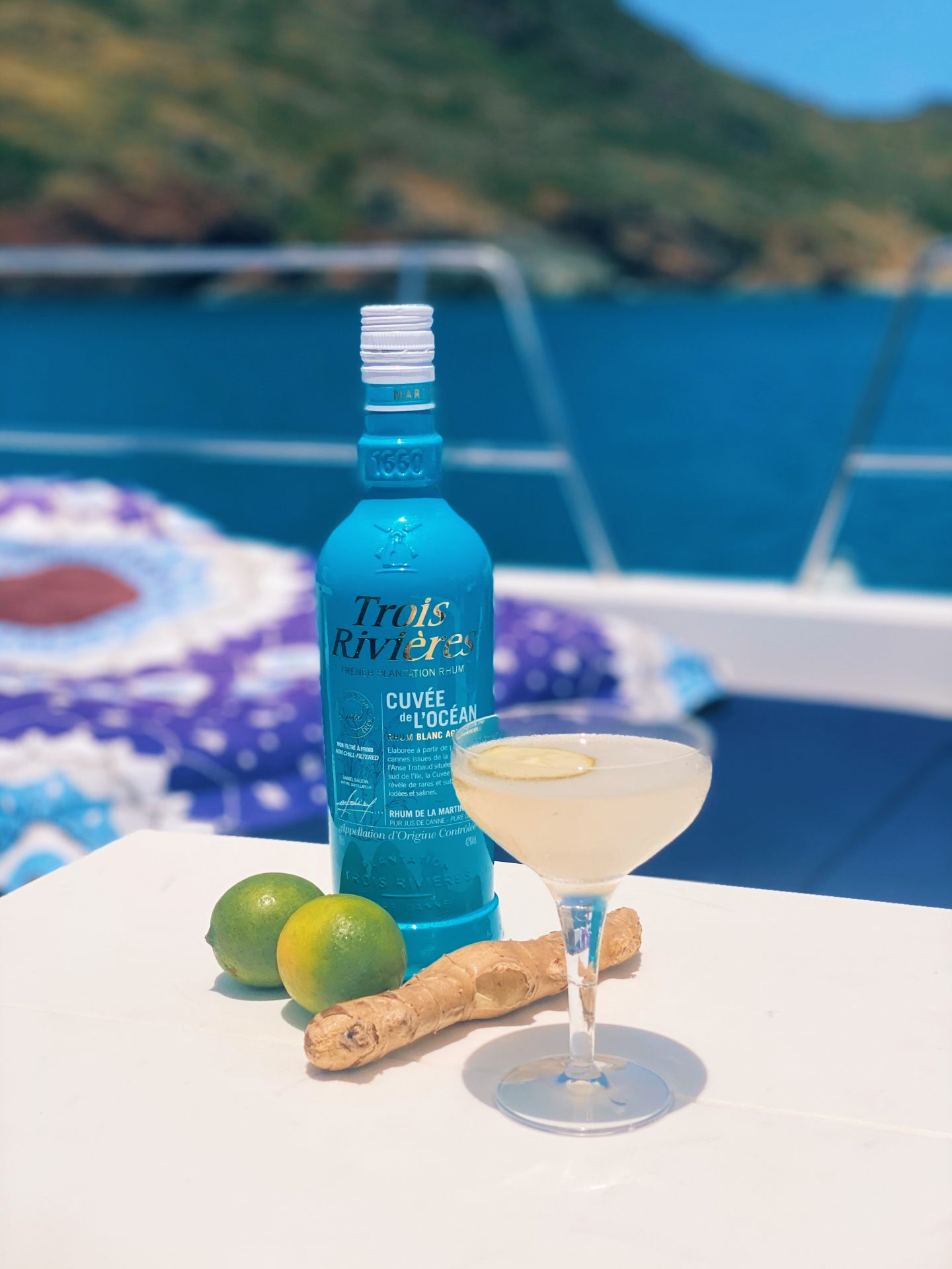 Caribbean Ginger Daiquiri Cocktail